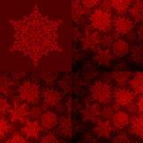 Sömlöst djupt - röd jultexturuppsättning 10 eps Arkivbild