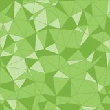 Sömlöst geometriskt trekantig modell geometrisk bakgrund Ljus - grönt polygonal Royaltyfri Fotografi