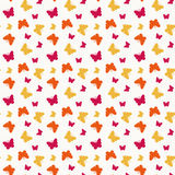 Sömlöst med fjärilar. Vektorillustration. Fotografering för Bildbyråer