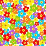 Sömlöst modell av den färgrika blomman Royaltyfria Foton