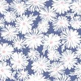 Sömlöst modellmaterial för den abstrakta blomman, planlade jag en blomma abstractly, stock illustrationer