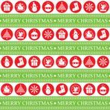 Sömlöst patern för jul Arkivbilder