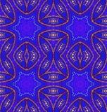 Sömlöst prydnadmörker - blå lilabrunt Royaltyfri Fotografi