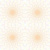 Sömlöst raster för guillochevektorbakgrund Moireprydnadtextur med vågor Modell för pengargarantien, certifikat, diplom Royaltyfria Bilder