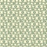 Sömlöst smattrande - dollarräkningar royaltyfri illustrationer