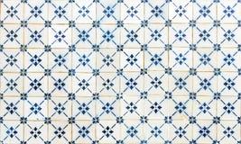 Sömlöst smattrande som göras av traditionella azulejostegelplattor arkivfoto