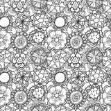 Sömlöst snöra åt den blom- modellen på vit bakgrund Arkivfoton