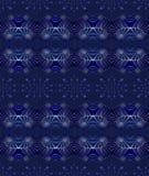 Sömlöst spiralt prydnadmörker - blå purpurfärgad silvergrå färg Royaltyfria Bilder