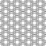 Sömlöst svartvitt modellbakgrundsabstrakt begrepp Royaltyfria Foton
