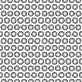 Sömlöst svartvitt modellbakgrundsabstrakt begrepp Royaltyfri Bild