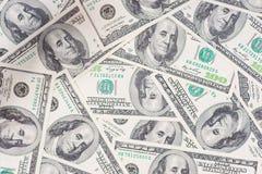 Sömlöst Tileable och repeatable valuta för 100's USA Royaltyfri Fotografi