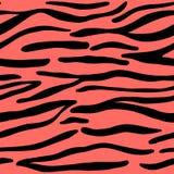 Sömlöst trendigt djurt tryck för tiger royaltyfri illustrationer