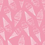 Sömlöst tryck av glass i en dillandekopp på en rosa bakgrund arkivfoto
