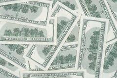 Sömlöst valuta för 100's USA Royaltyfri Bild