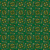 Sömlöst vanligt cirkelmodellmörker - grön apelsin stock illustrationer