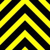 Sömlöst vektordiagram av svarta uppåtriktade peka sparrar på en gul bakgrund Detta betyder fara eller en fara stock illustrationer