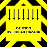 Sömlöst vektordiagram av svarta uppåtriktade peka sparrar på en gul bakgrund med den uttrycka över huvudet faran för varning vektor illustrationer