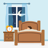 Sömndesign vektor illustrationer