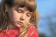 sömnig flicka royaltyfri foto