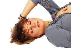 sömnig kvinna royaltyfri foto