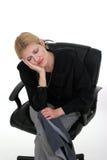 sömnig kvinna för 6 affär Arkivbilder