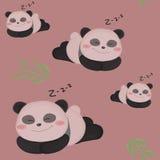 Sömnig liten panda. Royaltyfria Bilder