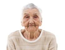 Sömnig mormor royaltyfri fotografi