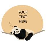Sömnig panda Arkivbilder
