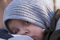 SÖMNIGA LITTLE BOY Fotografering för Bildbyråer