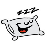 Sömnigt kudde Arkivfoton