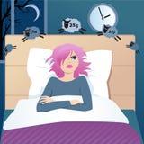 Sömnlös person som räknar får Royaltyfri Fotografi