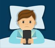 Sömnlöshet och beroende vektor illustrationer