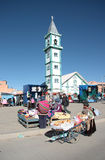söndag marknad i den El Alto staden, La Paz Region, Bolivia Arkivfoto