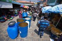 söndag marknad i San Pedro La Laguna Royaltyfria Bilder