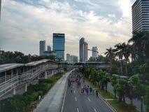 söndag morgon i Jakarta Royaltyfria Foton