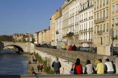 söndag på flodbanker Fotografering för Bildbyråer