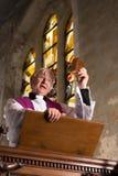 Söndagen samlas preacheren Royaltyfri Fotografi