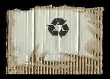 Sönderriven papp och symboler Royaltyfri Foto