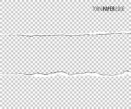 Sönderriven pappers- kant med skugga som isoleras på genomskinlig bakgrund den lätta designen redigerar elementet till vektorn royaltyfri illustrationer