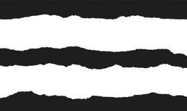 Sönderriven pappers- vektor, svartvit designbeståndsdel royaltyfri illustrationer