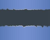 Sönderrivet papper med utrymme för text. Royaltyfri Foto