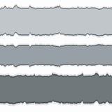 Sönderrivet papper med utrymme för text. Arkivbild
