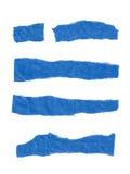 Sönderrivet pappers- baner royaltyfri illustrationer