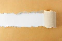 Sönderrivet pappers- begrepp Arkivfoton