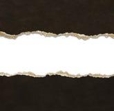 Sönderrivet pappers- gränsar Arkivfoton