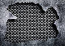 Sönderrivet stål med en skadad metall för grå ingreppsbakgrund vektor illustrationer