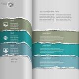 Sönderrivna infographicsblått Royaltyfri Fotografi