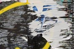 Sönderrivna pappers- målarfärgfläckar royaltyfria bilder