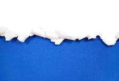 Sönderrivna pappersgränser på vit Royaltyfria Foton