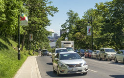 Sörja avenyn Montreal Royaltyfri Foto